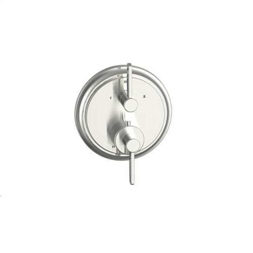 Dual Control Thermostatic With Diverter and Volume Control Valve Trim Darby Series 15 Satin Nickel