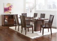 """Briana Arm Chair, Brown PU 23""""x25""""x41"""""""