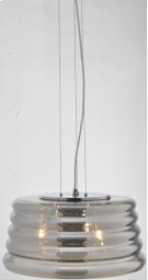 Pendant, Chrome/smoke Mirrored Glass Shade, E12 Type B 40wx3 Product Image
