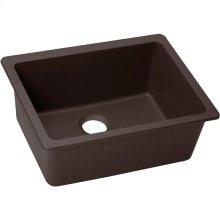 "Elkay Quartz Luxe 24-5/8"" x 18-1/2"" x 9-1/2"", Single Bowl Undermount Sink, Chestnut"