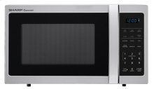 0.9 cu. ft. 900W Sharp Stainless Steel Carousel Countertop Microwave Oven