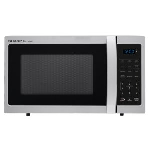 Sharp Appliances0.9 cu. ft. 900W Sharp Stainless Steel Carousel Countertop Microwave Oven