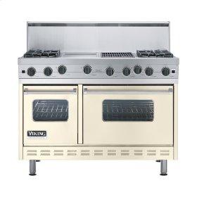 "Biscuit 48"" Open Burner Range - VGIC (48"" wide, four burners 12"" wide griddle/simmer plate 12"" wide char-grill)"