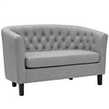 Prospect Upholstered Fabric Loveseat in Light Gray