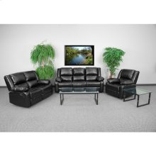 Harmony Series Black Leather Reclining Sofa Set