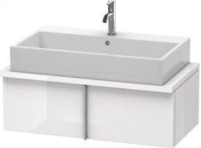 Vero Vanity Unit For Console Compact, White High Gloss (decor)
