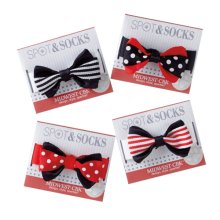 Small Black and Red Bow Tie Dog Collar (4 asstd)