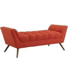 Response Medium Upholstered Fabric Bench in Atomic Red Product Image