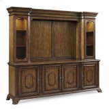 Continental Entertainment Console and Deck - Weathered Nutmeg Product Image