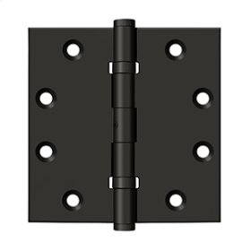 """4 1/2""""x 4 1/2"""" Square Hinges, Ball Bearings - Oil-rubbed Bronze"""