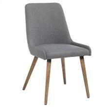 Mia Side Chair, set of 2, in Dark Grey & Grey Legs