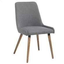Mia Side Chair, set of 2, in Dark Grey & Grey Legs