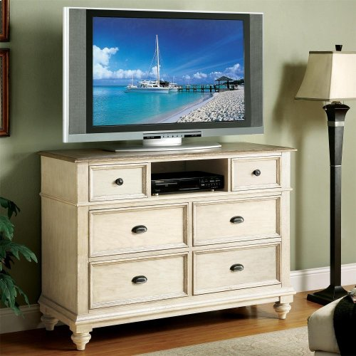 Coventry Two Tone - Entertainment Chest - Weathered Driftwood/dover White Finish