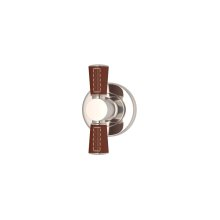 Tube Stitch Out Combination Leather In Chestnut And Polished Nickel