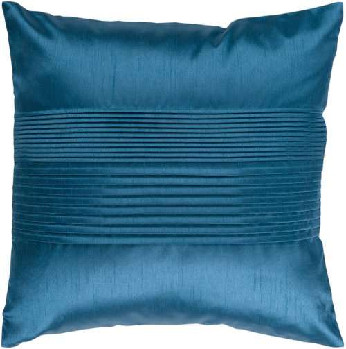 "Solid Pleated HH-024 22"" x 22"" Pillow Shell with Down Insert"