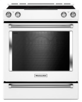 30-Inch 5-Element Electric Slide-In Convection Range - White