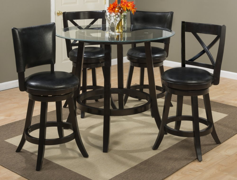 glass top counter height table and chairs height dining aaron glass top counter height table with two back swivel stools 3pc815wxback in by jofran evansville in
