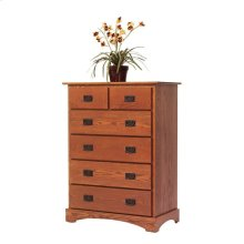 Old English Mission Chest of Drawers