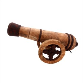 Wooden Cannon Decor, Brown