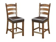 Emerald Home Chambers Creek Barstool W/nailhead Trim-dark Brown Pu Uph Seat D412-24