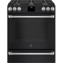"""GE Café Series 30"""" Slide-In Front Control Range with Warming Drawer***FLOOR MODEL CLOSEOUT PRICING***"""