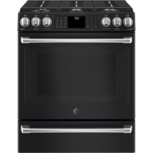 "GE CafeGE CAFEGE Caf(eback) Series 30"" Slide-In Front Control Range with Warming Drawer"