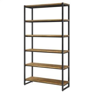 Anderson KD 6 Tier Bookcase, Brown