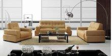 Divani Casa BO3911 Modern Light Brown Leather Sofa Set