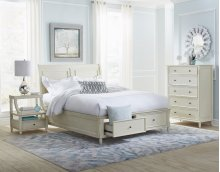Avignon Ivory Twin Storage Footboard