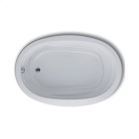 "Easy-Clean High Gloss Acrylic Surface, Oval, Microsilk® Bathtub, 42"" X 60"""