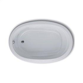 """Easy-Clean High Gloss Acrylic Surface, Oval, AirMasseur® Bathtub, 42"""" X 60"""""""