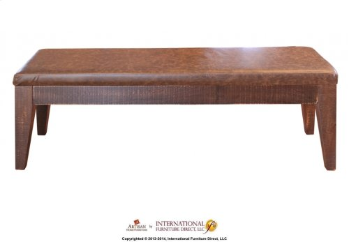 Breakfast Bench w/ Bondedleather seat