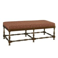 Turned Leg Ottoman Bench Product Image
