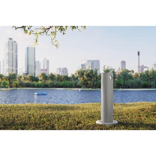 Elkay Outdoor Fountain Pedestal Non-Filtered, Non-Refrigerated Gray