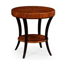 Art Deco High Lustre Round Side Table