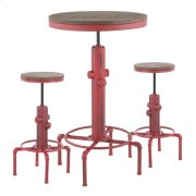 Hydra Bar Set - Vintage Red Metal, Brown Bamboo Product Image