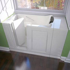 Luxury Series 28x48-inch Whirlpool Walk-in Tub  Left Drain  American Standard - White