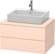 Delos Vanity Unit For Console, Apricot Pearl Satin Matt Lacquer