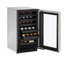 "18"" Wine Captain ® Model Stainless Frame (Lock) Left-Hand Hinge"