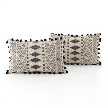 Faded Block Print Pillow, Set of 2-16x24