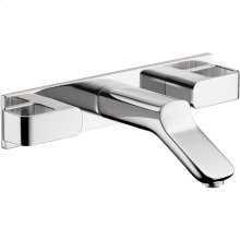 Chrome Urquiola Wall-Mounted Widespread Faucet Trim with Base Plate