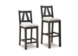 """Algoma 30"""" Bar Chair With Fabric/Bonded Leather Seat"""