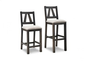 """Algoma 24"""" Counter Chair With Leather Seat"""