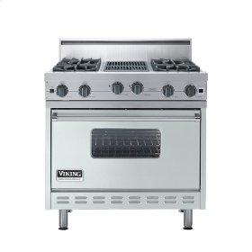 "Sea Glass 36"" Open Burner Range - VGIC (36"" wide, four burners 12"" wide char-grill)"