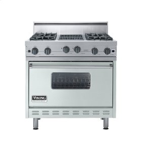 "Sea Glass 36"" Open Burner Range - VGIC (36"" wide, four burners 12"" wide char-grill)"