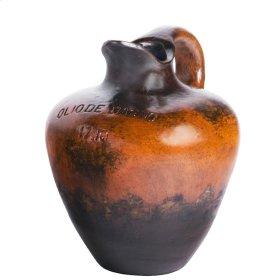 """Orange Black """" Bath Oil Jug"""" Medium"""