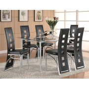 Los Feliz Contemporary Metal Dining Table Product Image
