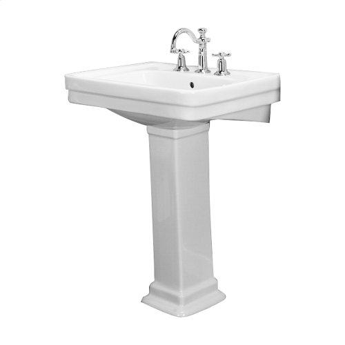 Sussex 660 Pedestal Lavatory - White