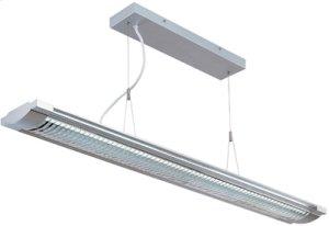 Fluor. Ceiling Lamp, Silv/clear, Fluor. T5/6400k Tube 28wx2
