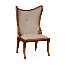 """Walnut """"Butterfly"""" Upholstered Side Chair"""